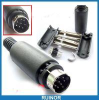 50 Sets 3pin 4pin 5pin 6 Pin 7 Pin 8 Pin Mini DIN Plug Cable Mount Male Socket