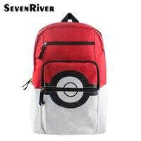 Cartoon Teenager's Nylon Backpack For Boys Girls Pokemon Pokeball School Backpacks Rucksack Should Bag Kid Gift Bag