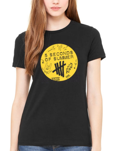 5 Seconds Of Summer 5SOS Scribble T shirt Women Personalized Custom T-shirt  100% Cotton USA size XS-2xl new