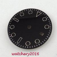 31.3mm Quadrante nero Data finestra misura 2836 Mingzhu ETA 2813 movimento Quadrante Dell'orologio degli uomini