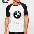 BMW Hombre Manga de Raglán de la Camiseta de Hip Hop de la Marca de Coches de Moda Tops camisetas t shirt men camiseta de algodón diy nuevas marcas de skate clothing Mens