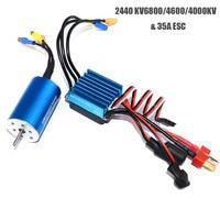 RC 2440 6800KV / 4600KV / 4000KV Sensorless Brushless Motor With 35A Brushless ESC for 1/14 1/16 RC Car