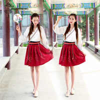 Hanfu Clothing Costume Improved Chinese Element Women Summer Dress Hanfu Chinese Style Suit Skirt Daily Student Stage Costumes