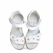 Модные ортопедические сандалии с цветами; 1 пара; детская обувь; детские сандалии для девочек наивысшего качества