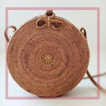 Round Woven Summer Bag for Women