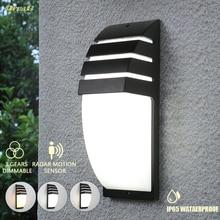 Oreab 10w IP65 Wasserdichte Outdoor Wand Lampe Motion Sensor Licht Control 3 Licht Farben Veränderbar Außen Landschaft Lichter 220V