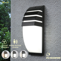 Oreab 10w Waterproof Outdoor Wall Lamp Motion Sensor / 3 Light Colors Changeable Contemporary Exterior Landscape Lights 220V