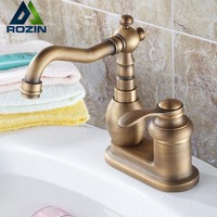 Free Shipping Single Handle Antique 4 Inch Centerset Cheap Kitchen Faucets