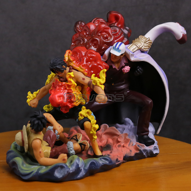 Anime One Piece The Death Of Ace Luffy & Ace VS Sakazuki PVC Figure Collectible Model Toy
