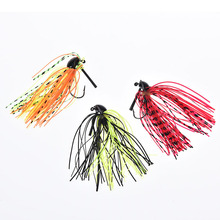 1Pcs Spinnerbait Black Large Mouth Bass Fish Metal Bait Sequin Beard Pike Fishing Tackle Rubber Jig Soft Fishing Lure 7g/10g