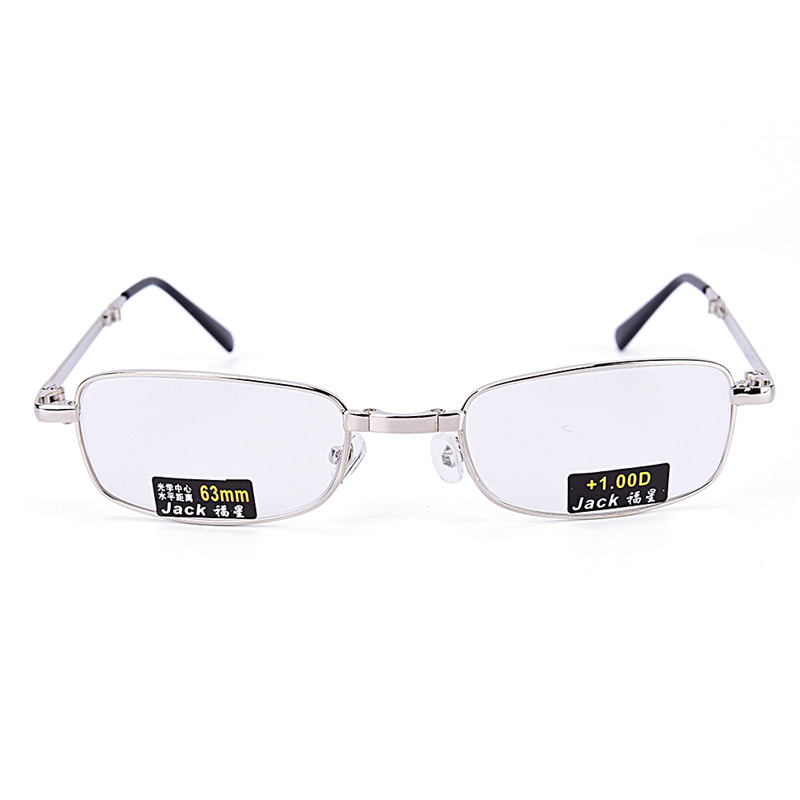 Hot Sale 1Pc Reading Glasses Metal Snap Folding with Case +1.0 +1.5 +2.0 +2.5 +3.0 +3.5 +4.0