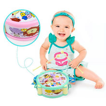 6pcs/Set Musical Toy Set Baby Grasp Hand Bell Music Toy Roll Drum Musical Instruments Band Kits Kids Early Educational Toy Gift(China)