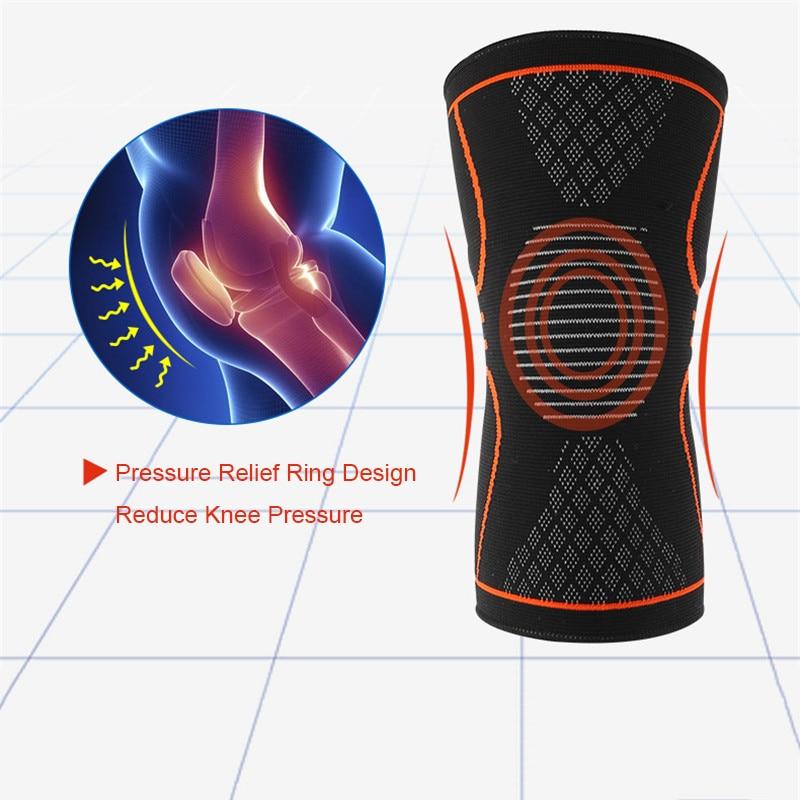 1 Pcs Knee Sleeve Support Protector Sport Kneepad Tom's Hug Brand Fitness Running Cycling Braces High Elastic Gym Knee Pad Warm
