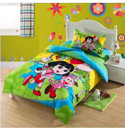 New Style Children Cartoon Polyester Cotton Bed Set Kids Hy Dora And Bedding Sets