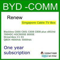 Singapore 1 Yr Subscription Cable Tv Box For Qbox4000hdc 5000hdc 801hd 808hd Hdc600 Hdc600 C