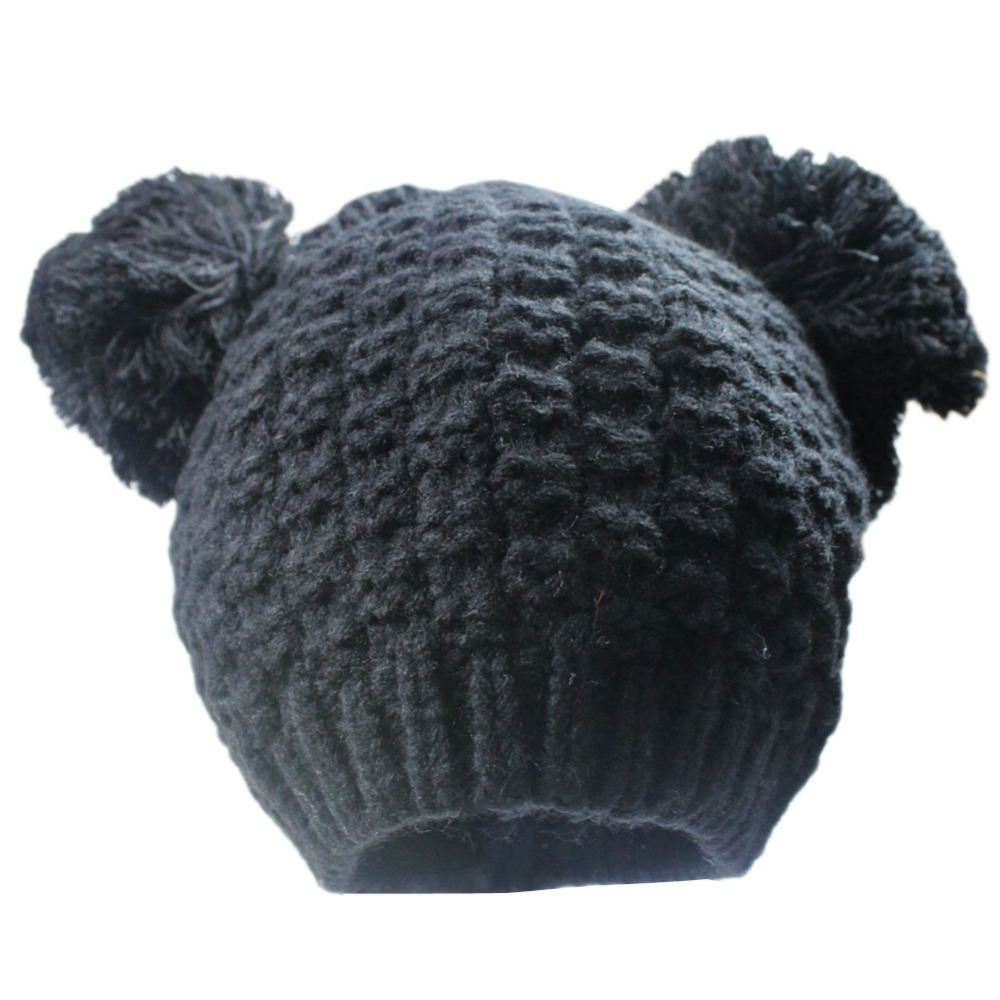 3428e6c1cfd Womens Winter Knitted Cat Eer Chunky Slouchy Warm Pompom Ski Snowboard Beanie  Hat Hats with Pom Pom Ears