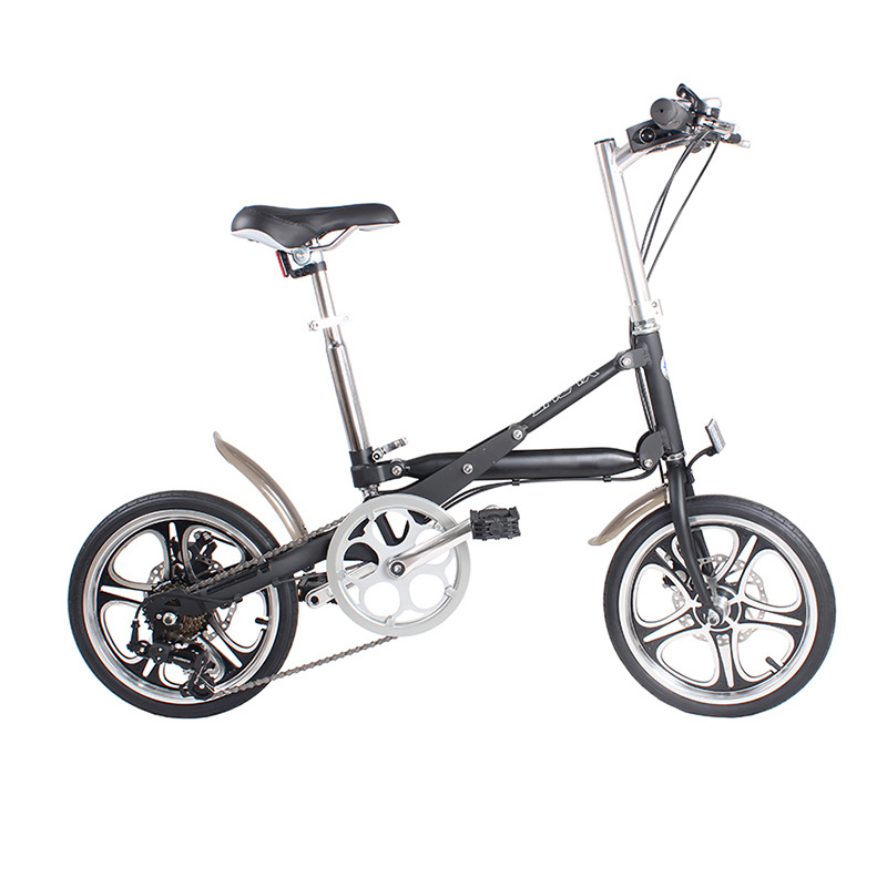 16-inch Folding Bicycle Aluminum 7-speed And Single-speed Bike A Light Folding Bicycle That Can Be Pushed Around At Will