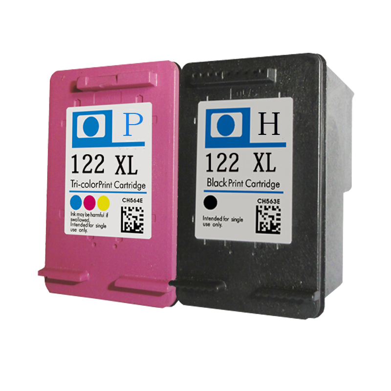 2 Refilled ink Cartridge For hp 122 XL ink Cartridge for Deskjet 1000 1050 2000 2050 3000 3050 3050A 3052A 3054A hwdid 56xl 57xl ink cartridge compatible for hp 56 57 c6656a c6657a deskjet 450ci 5550 5552 7150 7350 7000 2100 220 printer