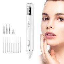 Caneta removedora de manchas lcd a laser, caneta contra verrugas, ferramenta de remoção de tatuagem da pele dispositivo de cuidados com a beleza
