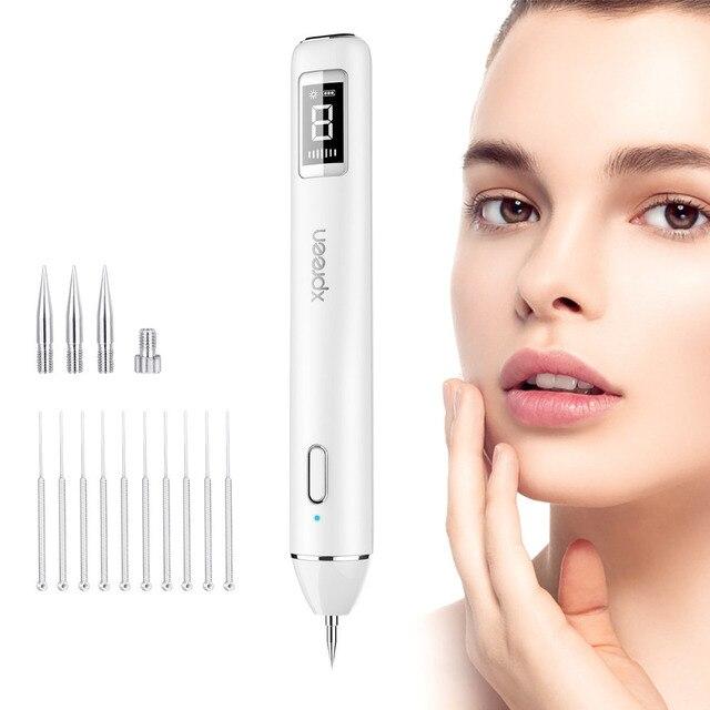 חדש לייזר פלזמה עט שומה הסרת כהה ספוט LCD מסיר עור טיפול נקודת עט עור יבלת תג קעקוע הסרת כלי יופי טיפול מכשיר