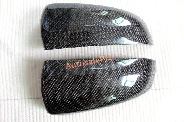Pour BMW X5 E70 2008 2009 2010 2011 2012 vrai carbone rétroviseur latéral de voiture garnitures de couverture 2 pièces