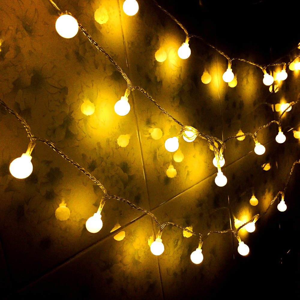 1M 2M 10M Fairy Garland LED Ball String Lights Waterproof For Christmas Party Wedding Home Indoor Decoration Battery Powered