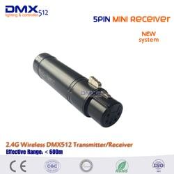 Бесплатная доставка Горячая Распродажа 5pin мини беспроводной DMX512 приемник для сценического освещения