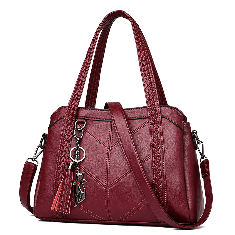 Women Handbag Genuine Leather Tote Bags Tassel Luxury Women Shoulder Bags Ladies Leather Handbags Women Fashion Bags 2018