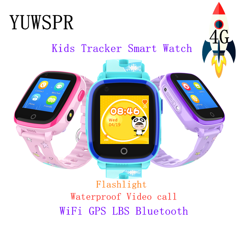 Kids GPS Tracker 4G Smart Watch IP67 Waterproof Bluetooth Camera Video Call GPS LBS WIFI Location Children Smart Clock  DF33Z