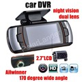 lower price A1 car DVR camera dual lens Full HD 2.7 inch LCD Rear Camera Allwinner Night vision G-Sensor auto automotive