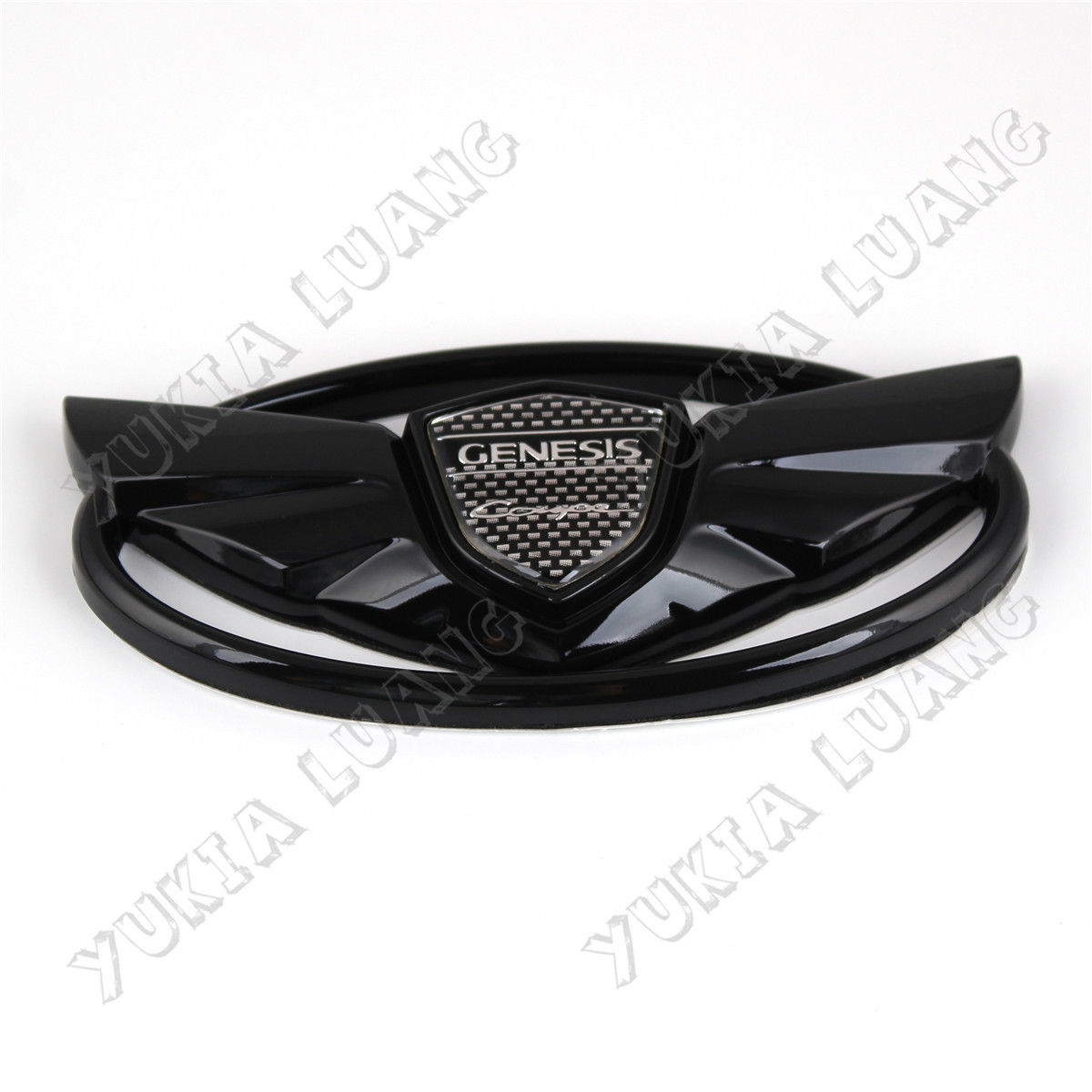 Black Wing Car Front Grille Emblem Sticker For Genesis Coupe 2010