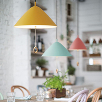 NEW Colorful Nordic Modern Hanging Pendant Lights E27 Pendant Lamp Light Fixtures 110V 220V For Personality