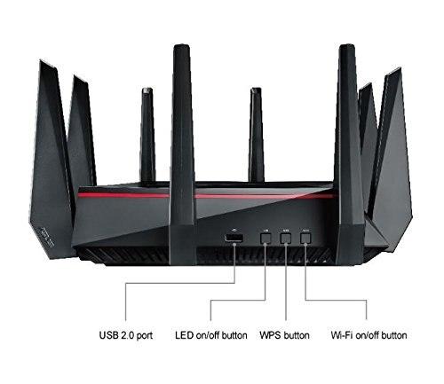 Meilleur routeur de jeu WiFi ASUS RT-AC5300 (paquet Simple) AC5300 Tri-bande, jusqu'à 5330 Mbps, MU-MIMO AiMesh pour système wifi mesh - 4