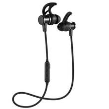 Smart Bluetooth headsets Metal magnetic style bass stereo noise reduction sports music headphones HD voice English prompt