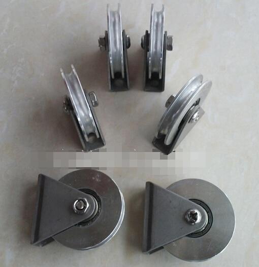 Diameter:38mm 304 stainless steel U grooved pulley Bracket wire rope ...
