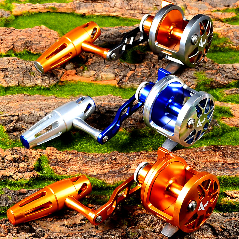 PRO BEROS Jigging Reel Aluminum CNC Machined Fishing Reel Left Handl JIG REEL Max Drag Sea