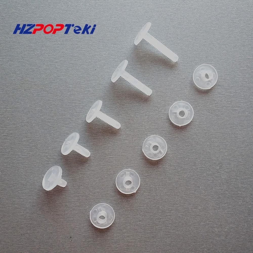 Environmental Plastic Binding Corrugated Nut Fasteners Screws Nylon Binder Post Lock Button Rivet Studs Twisted By Hand 200sets
