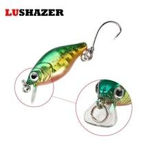 LUSHAZER Fishing minnow crankbait 2g 3cm isca artificial hard lure fishing wobblers cheap single hook peche carp fishing tackles