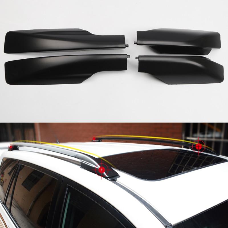 Glossy Black Roof Rails Rack End Cover Cap 4pcs For Toyota Highlander 2008-2013