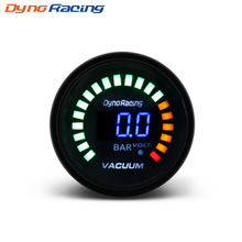 2 Inch 52mm Leds Digital Car Vacuum Bar Meter Racing Smoke Gauge Analog car meter/auto gauge