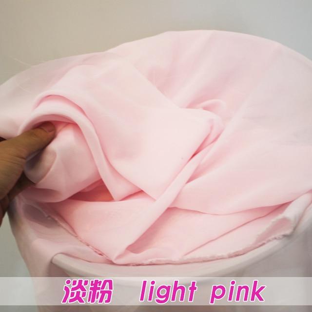 US $18 41 7% OFF Light Pink Chiffon Fabric Sheer Bridal Wedding Dress  Lining Fabric Skirt 60