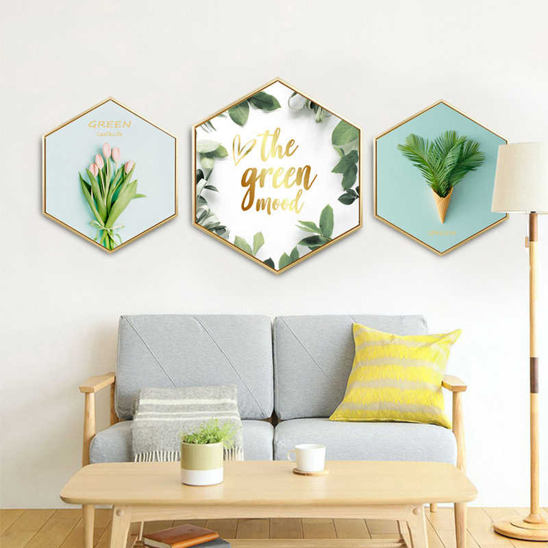 Instagram Wall Painting By Numbers Canvas Art Plant Hexagon Wall Pictures For Living Room Nightmare Before Christmas Kitchen