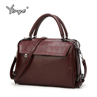 YBYT Brand Vintage Casual Women PU Leather Medium Handbags Female Luxury Satchels High Quality Business Bag
