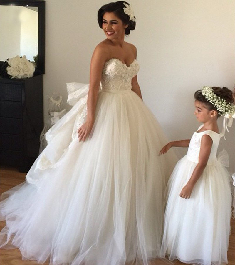 Romantic Off The Shoulder Sweetheart Ball Gown Wedding