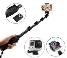 NMEGOU Erweiterbar Yunteng 1288 Bluetooth Selfie Stick einbeinstativ Stativ für Iphone 7 6 6s Plus Xiaomi Samsung Telefon Kamera yt 1288