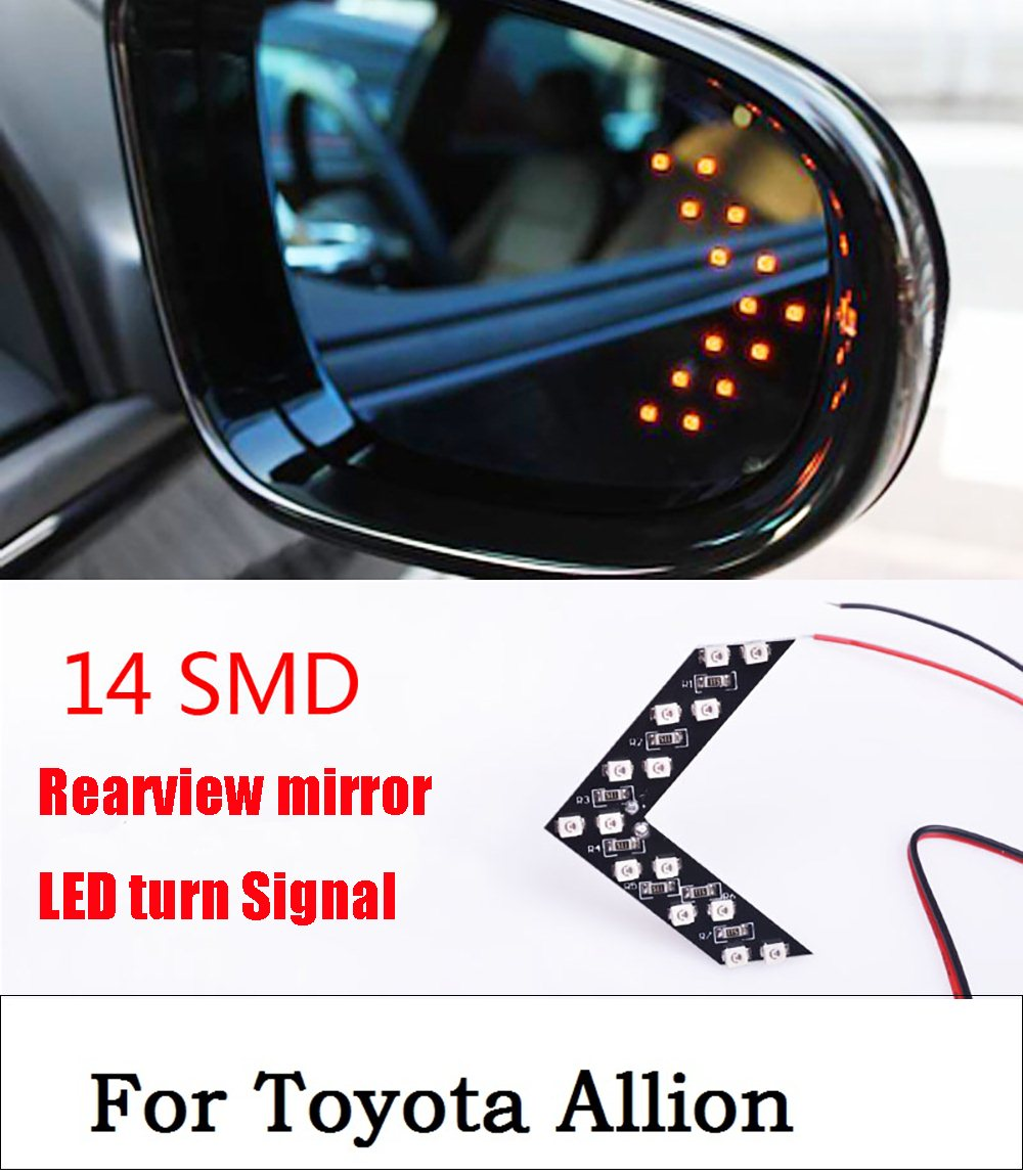 New 2017 2Pcs LED Arrow Panels 14-SMD Indicator Turn Signal Light For Car Rear View Mirror For Toyota Allion Car Styling green arrow vol 2 triple threat the new 52
