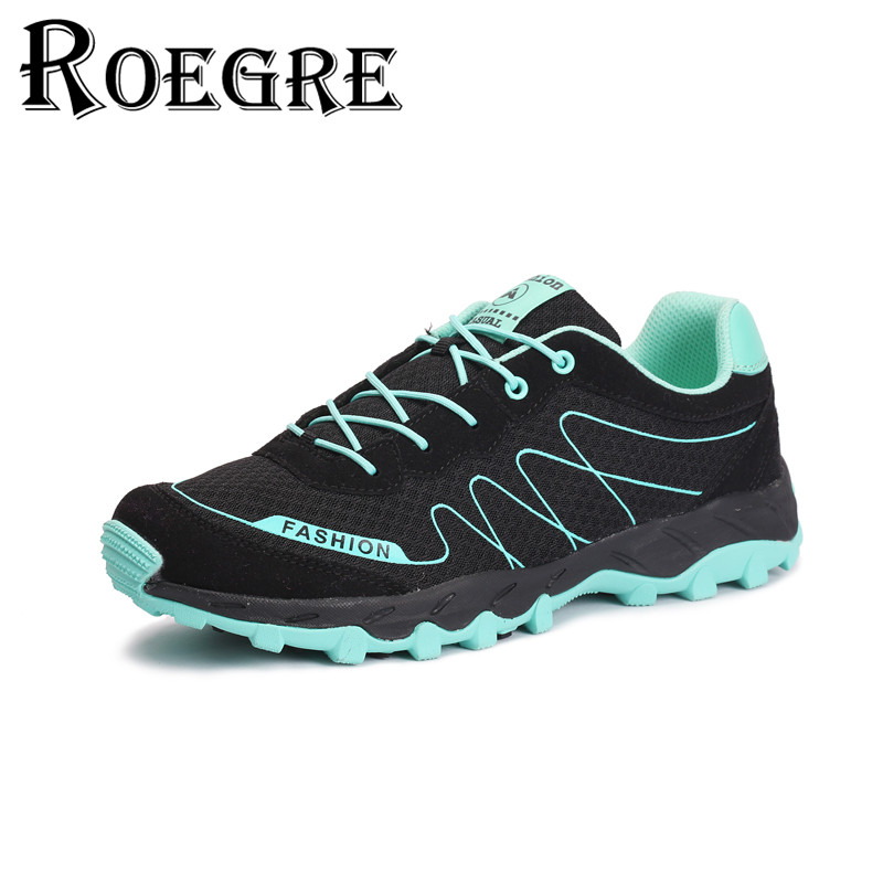 ФОТО ROEGRE  Outdoor Shoes Unisex Breathable  Air Mesh Casual Shoes Comfortable Trainers Footwear 7 Colors Blue