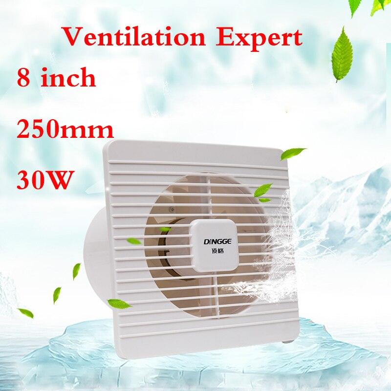 8 pouces 180mm salle de bains ventilateur d'échappement cuisine verre fenêtre mur ménage ventilateur d'échappement formaldéhyde PM2.5