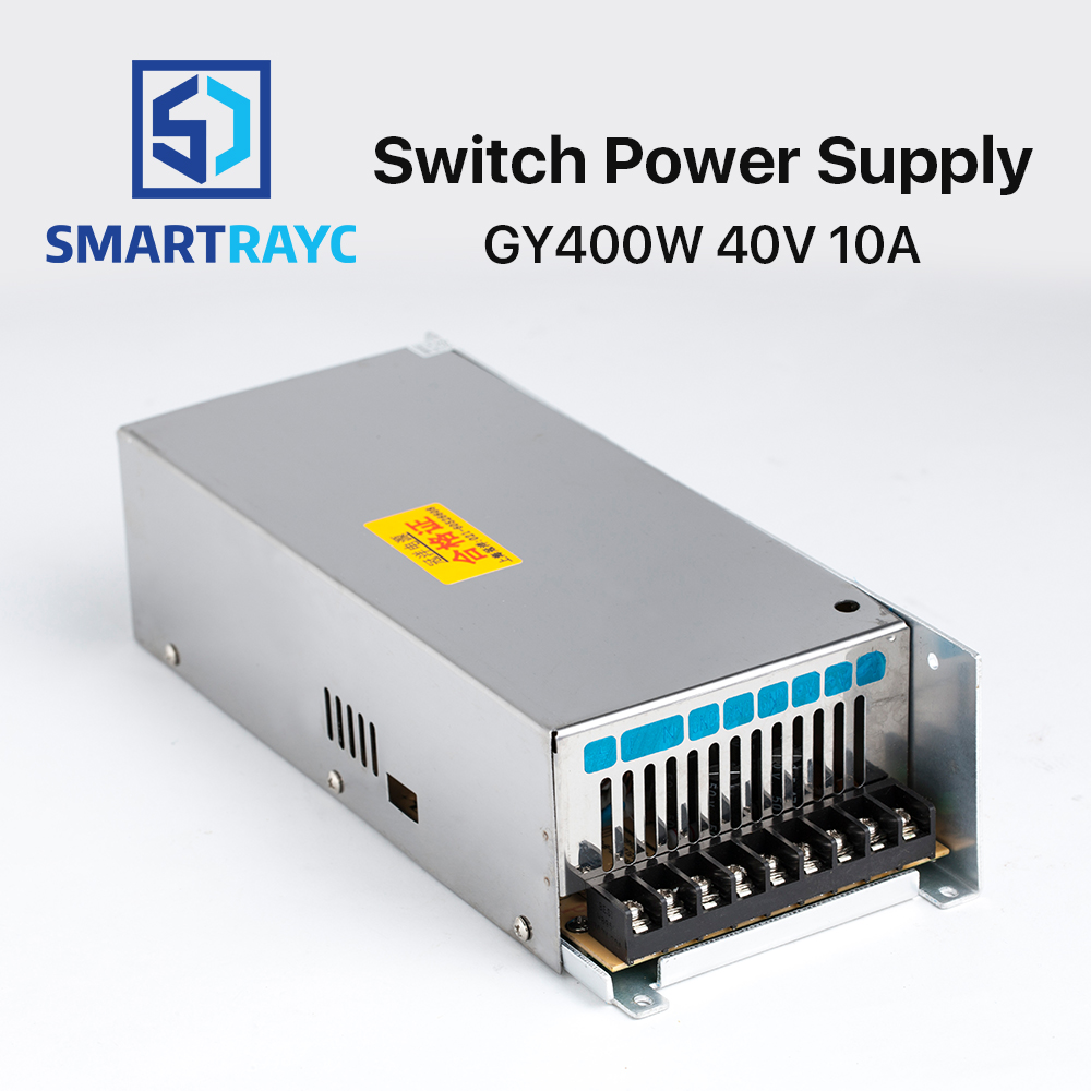 Smartrayc Guanyang Switch Power Supply 40V 10A 400W for 57 Stepper Motor Driver CNC Laser Engraving Cutting Machine GY400W-40-A laser cutting machine 57 stepper motor with copper gear