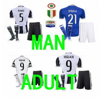 Shwuwu Top Best Qualit Quality JUVENTUSES Adult Kit Sock Short Sleeve Soccer Jersey 16 17 Home